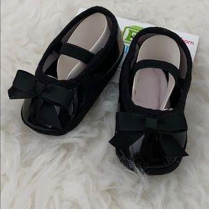 Black newborn ballet flats